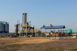 100Kw wood chips gasification